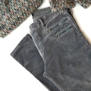 BANANA REPUBLIC Dark Gray Corduroy Moto Jeans!